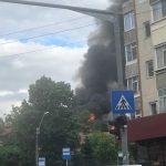 incendiu in Targu Cucului