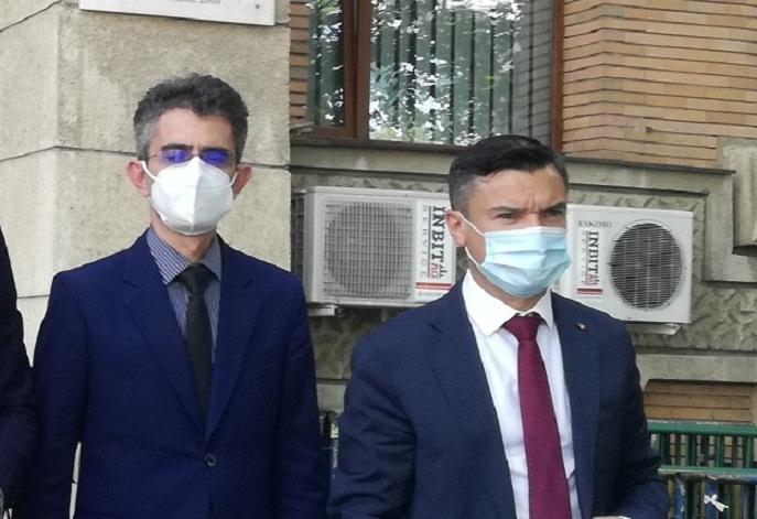 prefectul Marian Grigoras si Mihai Chirica