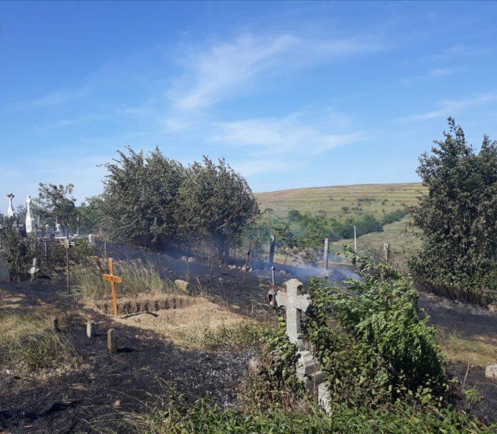 incendiu cimitir Harlau