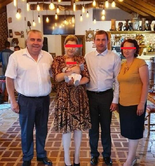 Constantin Serioja Hobinca si Mihai Matasariu cu nevestele