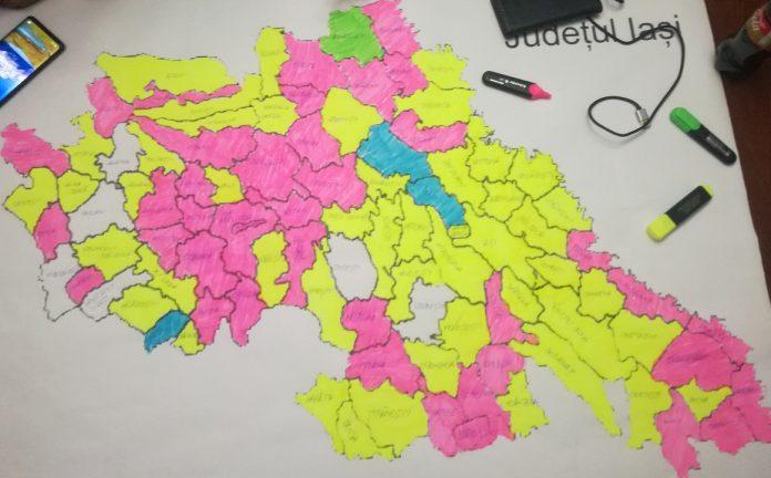 harta primarii judetul Iasi