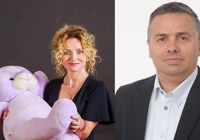 avocata Carmen Diaconu si un ursulet de pluș si Movila