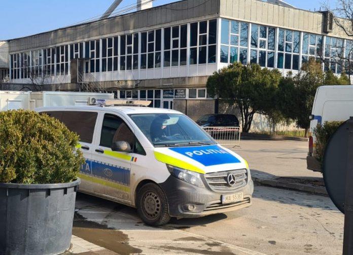 masina Politiei la Sala Sporturilor