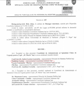 noul Consiliu de Administratie de la Spitalul Sfanta Maria-