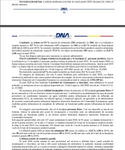 raport de activitate DNA IASI-2020