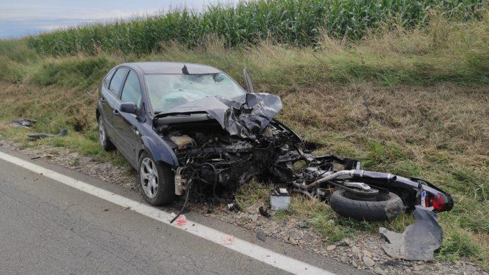 accident motociclist Costesti-